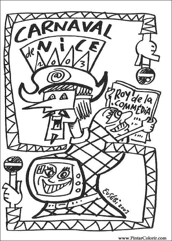 Desenhos Para Pintar E Colorir Carnaval Imprimir Desenho 014