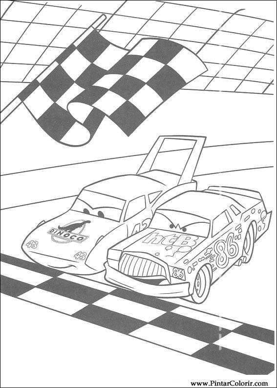 Desenhos Para Pintar E Colorir Carros Imprimir Desenho 017