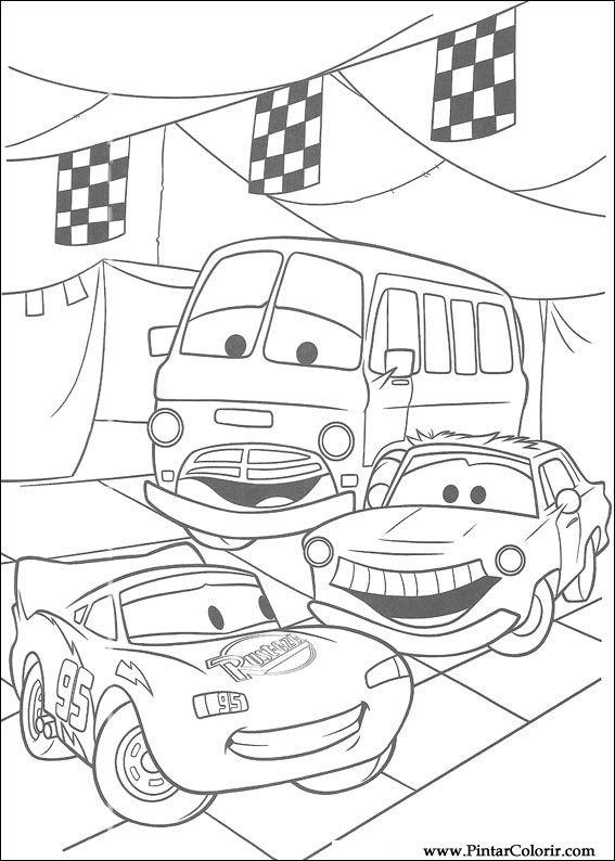 Desenhos Para Pintar E Colorir Carros Imprimir Desenho 022