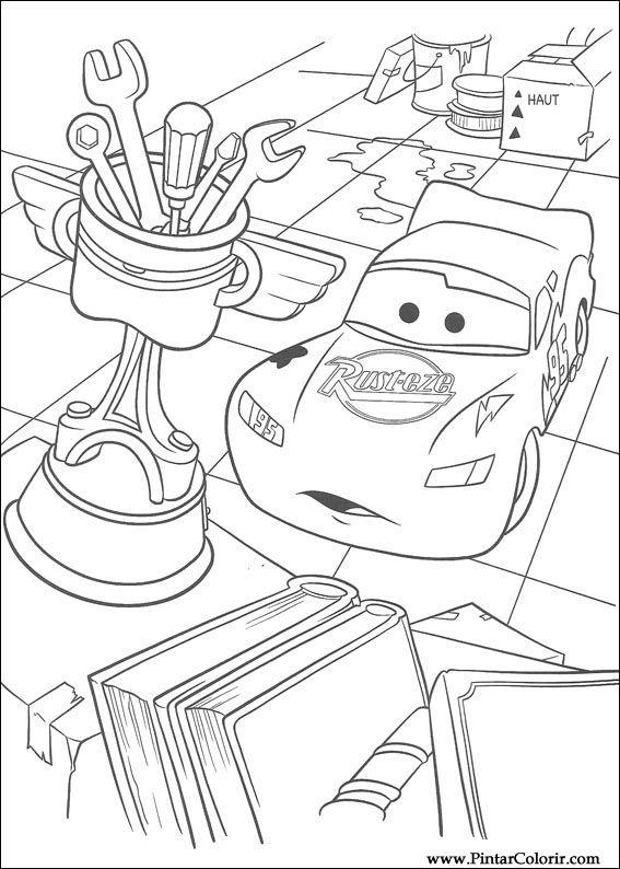 Desenhos Para Pintar E Colorir Carros Imprimir Desenho 075