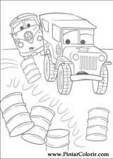 Pintar e Colorir Carros - Desenho 002