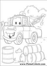 Pintar e Colorir Carros - Desenho 005