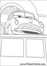 Pintar e Colorir Carros - Desenho 026
