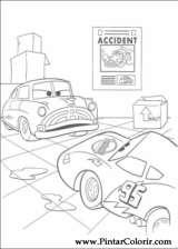 Pintar e Colorir Carros - Desenho 050