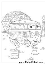 Pintar e Colorir Carros - Desenho 053