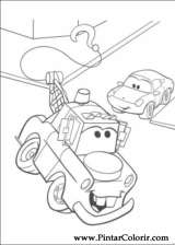 Pintar e Colorir Carros - Desenho 070