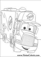 Pintar e Colorir Carros - Desenho 078