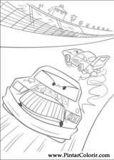 Pintar e Colorir Carros - Desenho 095