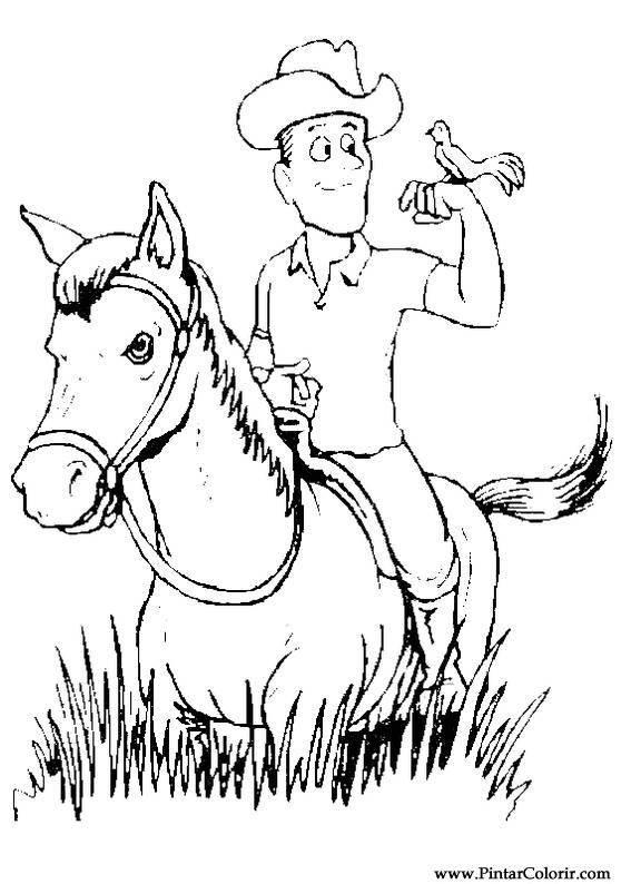 Desenhos Para Pintar E Colorir Cavalos Imprimir Desenho 004