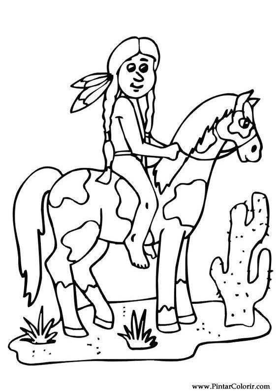 Desenhos Para Pintar E Colorir Cavalos Imprimir Desenho 005