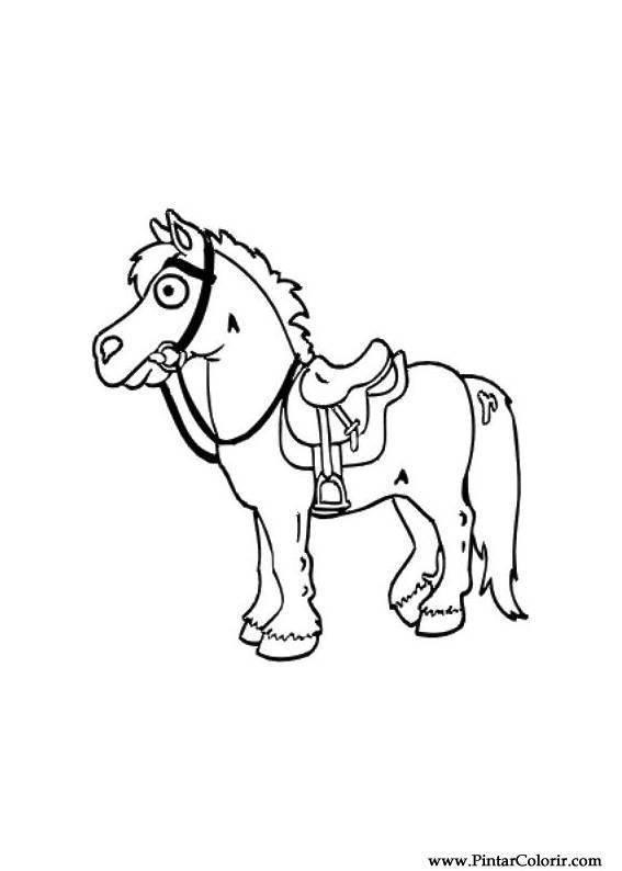 Desenhos Para Pintar E Colorir Cavalos Imprimir Desenho 019