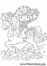 Pintar e Colorir Cavalos - Desenho 024