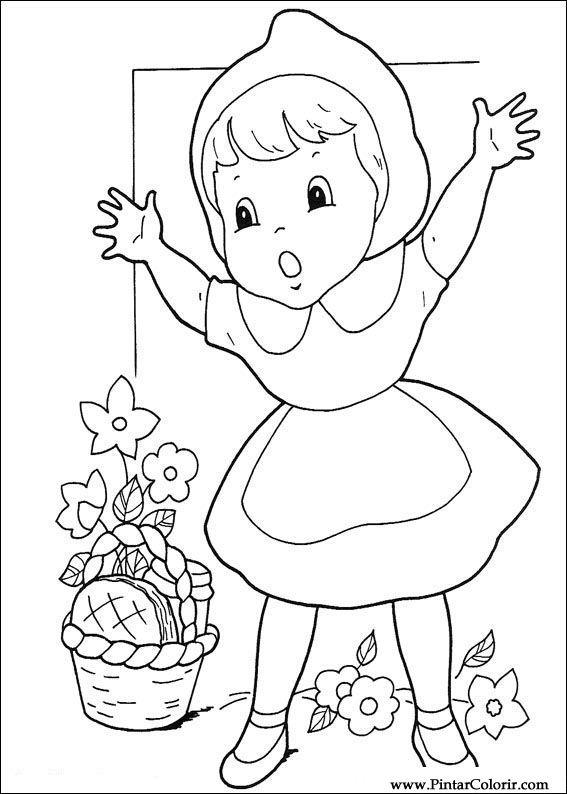 Desenhos Para Pintar E Colorir Chapeuzinho Vermelho Imprimir