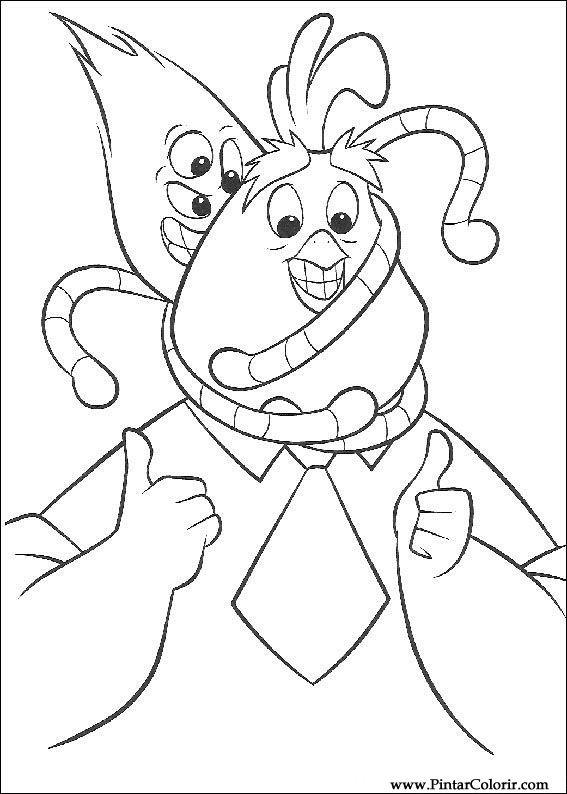Pintar e Colorir Chicken Little - Desenho 077