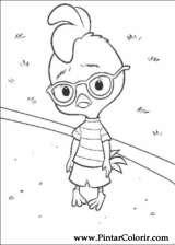 Pintar e Colorir Chicken Little - Desenho 069