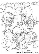 Pintar e Colorir Chicken Little - Desenho 072
