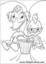 Pintar e Colorir Chicken Little - Desenho 085