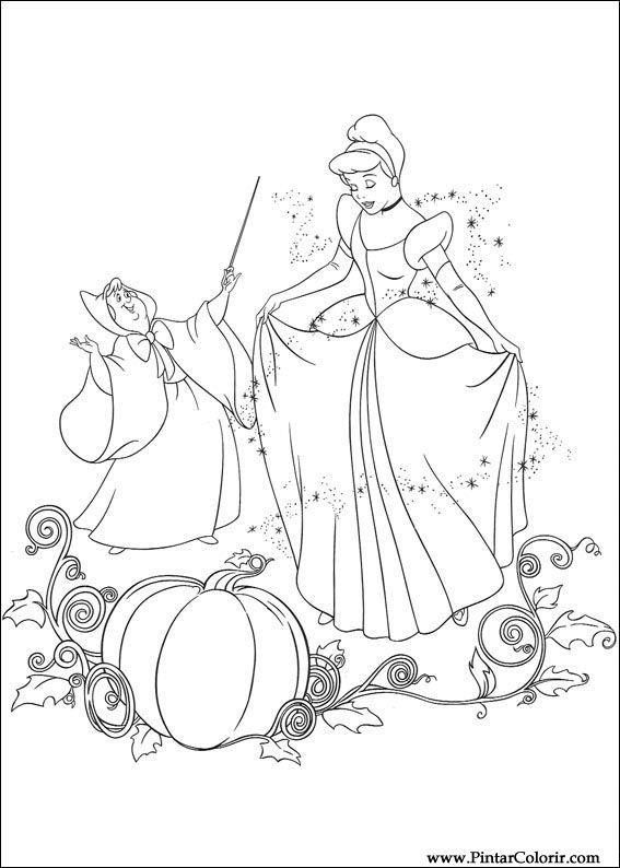 çizimler Boya Ve Renk Sindirella Için Baskı Tasarım 075
