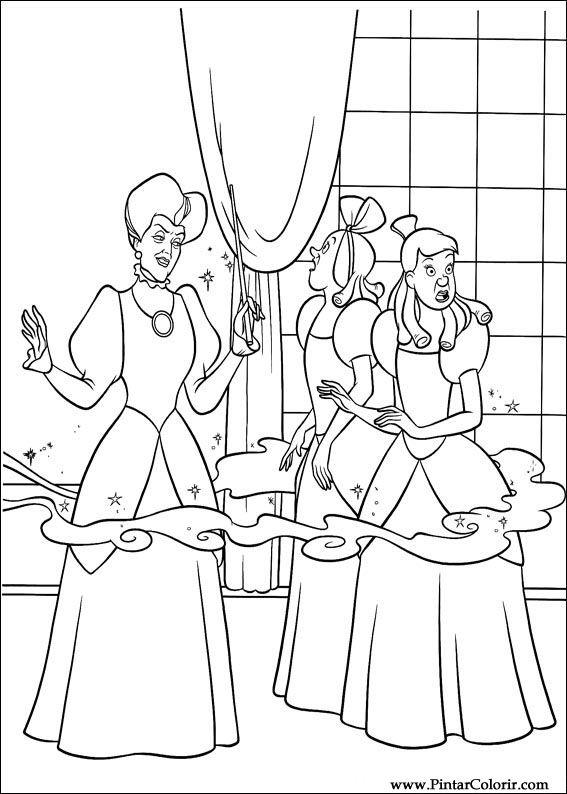 Desenhos Para Pintar E Colorir Cinderela Imprimir Desenho 104
