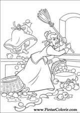 Pintar e Colorir Cinderela - Desenho 014