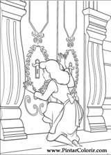 Pintar e Colorir Cinderela - Desenho 027
