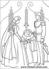 Pintar e Colorir Cinderela - Desenho 062