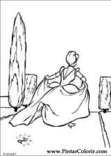 Pintar e Colorir Cinderela - Desenho 074