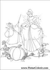 Pintar e Colorir Cinderela - Desenho 075