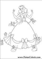 Pintar e Colorir Cinderela - Desenho 076