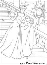 Pintar e Colorir Cinderela - Desenho 084