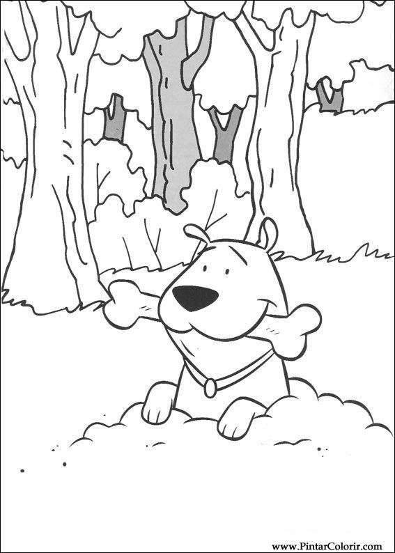 Pintar e Colorir Clifford - Desenho 018