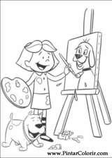 Pintar e Colorir Clifford - Desenho 010