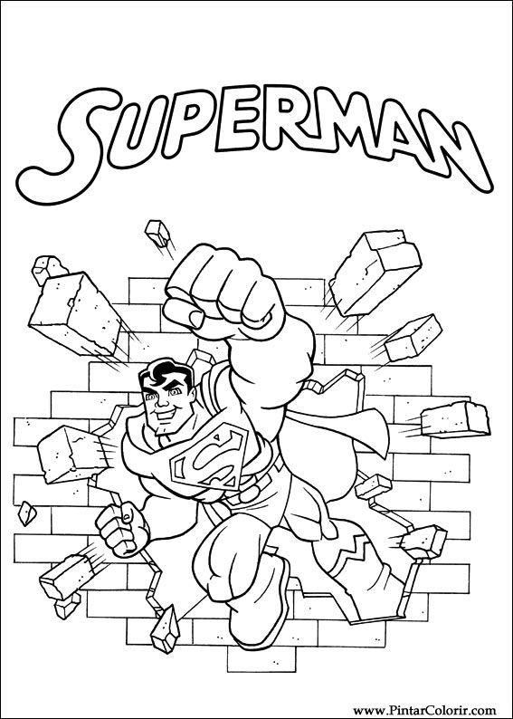 Dibujos para pintar y Color Dc Comics - Diseño de impresión 001