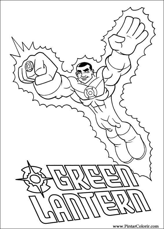 Dibujos Para Pintar Y Color Dc Comics Diseño De Impresión 004