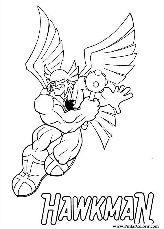 Dibujos para pintar y Color Dc Comics - Diseño de impresión 008