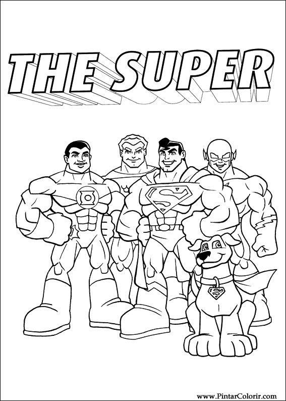 Dibujos Para Pintar Y Color Dc Comics Diseño De Impresión 009