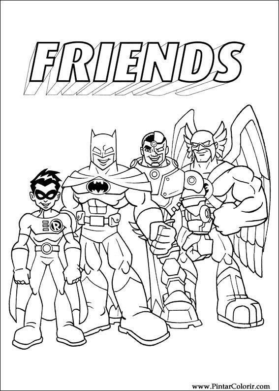 Dibujos para pintar y Color Dc Comics - Diseño de impresión 010