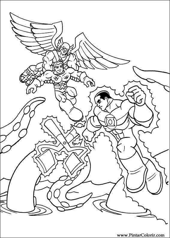Dibujos Para Pintar Y Color Dc Comics Diseño De Impresión 024