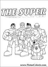 Pintar e Colorir Dc Comics - Desenho 009