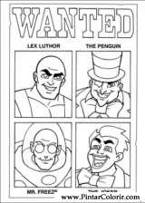 Pintar e Colorir Dc Comics - Desenho 011