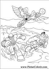 Pintar e Colorir Dc Comics - Desenho 022