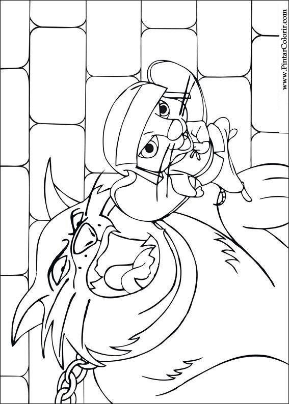 Pintar e Colorir Despereaux - Desenho 006