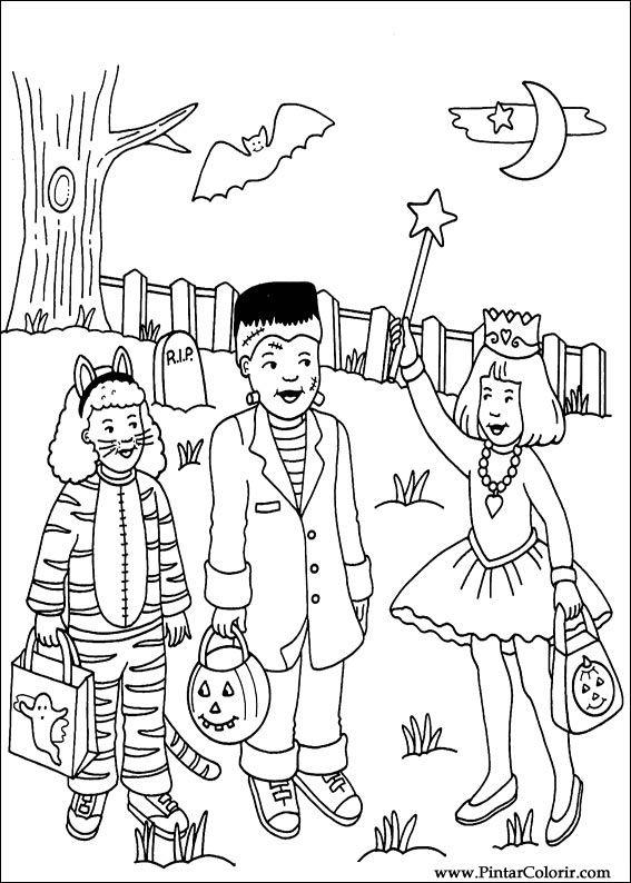 Desenhos Para Pintar E Colorir Dia Das Bruxas Imprimir Desenho 003