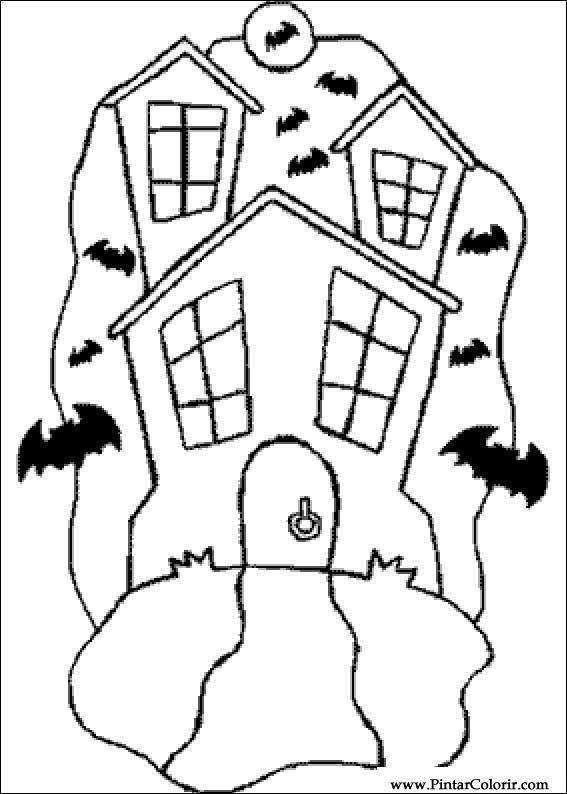 Dibujos para pintar y Color Halloween - Diseño de impresión 035