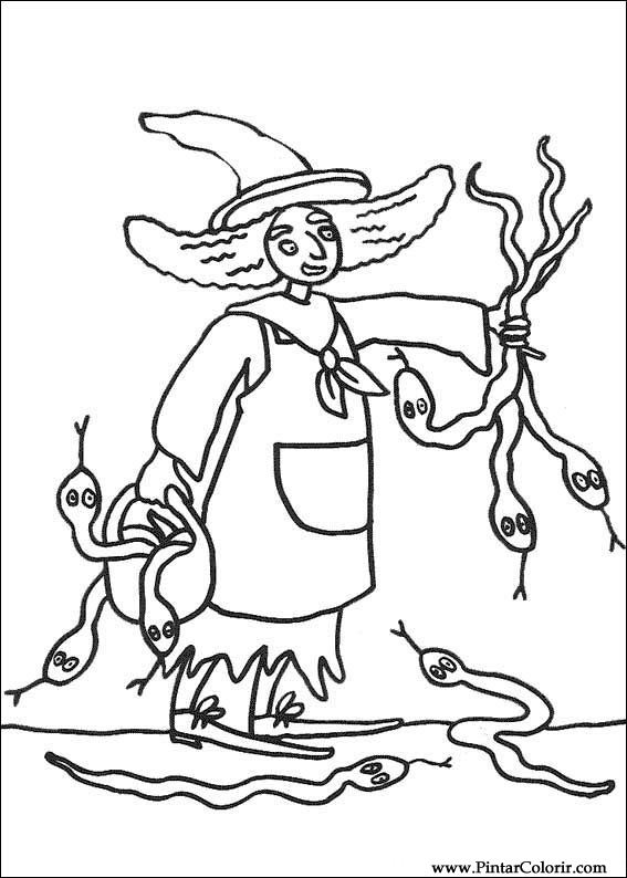 Drawings To Paint Colour Halloween Print Design 042