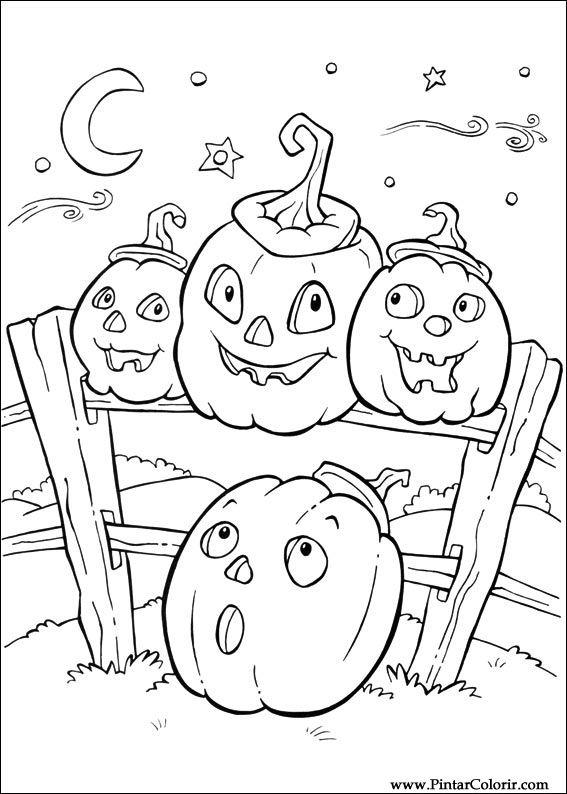 Halloween Bilder Att Rita