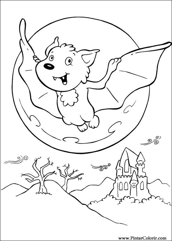 Drawings To Paint Colour Halloween Print Design 067