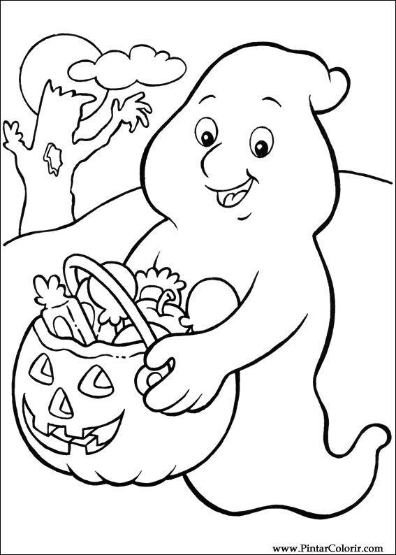 Dibujos Para Pintar Y Color Halloween Diseno De Impresion 068