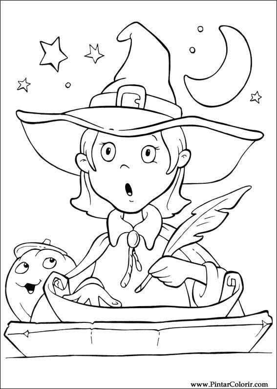 Tekeningen Te Schilderen Kleur Halloween Print Design 074