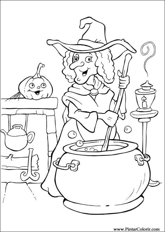 Desenhos Para Pintar E Colorir Dia Das Bruxas Imprimir Desenho 076